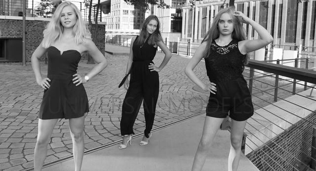 New Faces v.l.n.r.: Maria, Sofia und Anne – Shooting in der HafenCity